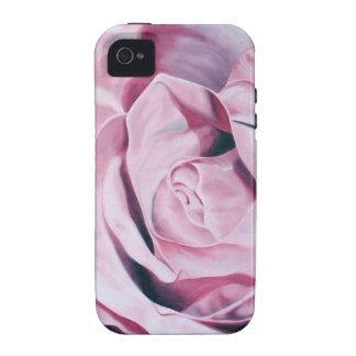 Shabby chic vintage romantic elegant pink roses iPhone 4 cases