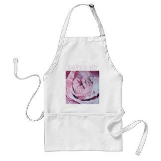 Shabby chic vintage romantic elegant pink roses standard apron