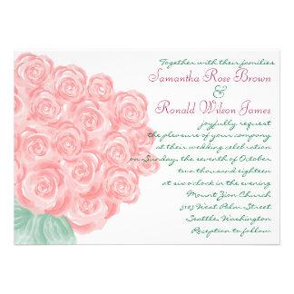 Shabby Chic Vintage Rose Wedding Invitations