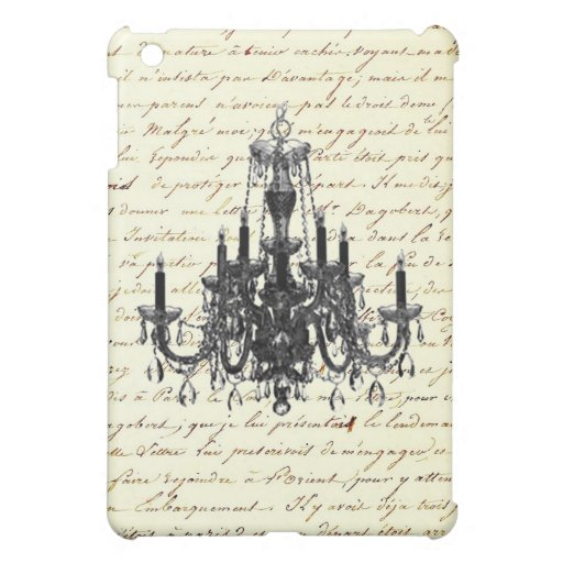 Shabby Chic Vintage Sofa Chandelier Save The Date iPad Mini Cases