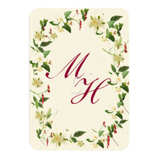 SHABBY CHIC WHIMSICAL FLORALS RSVP 9 CM X 13 CM INVITATION CARD
