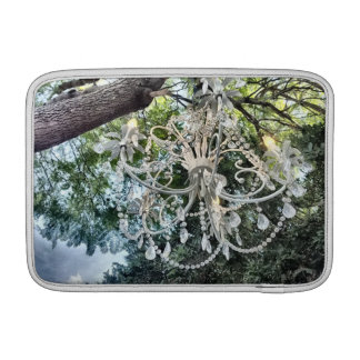 Shabby Chic White Crystal Chandelier MacBook Air Sleeves