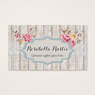 Shabby Chic Wood & Lace - Rosabella Rustic