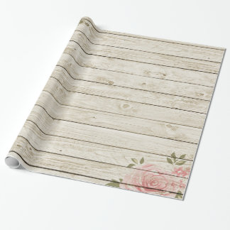 Shabby Chic Wood Texture Wrapping Paper