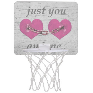 Shabby Chich Love Concept Poster Mini Basketball Hoop