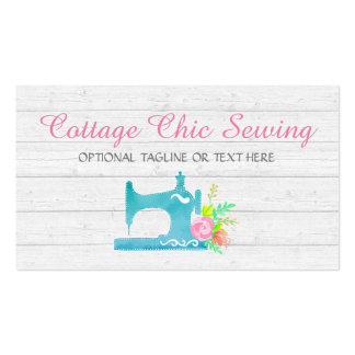 Shabby Cottage Chic Sewing Machine Rustic Wood Pack Of Standard Business Cards