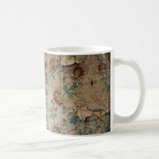 Shabby Cottage Grunge Wallpaper Coffee Mugs