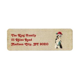 Shabby Dog Holiday Address Label