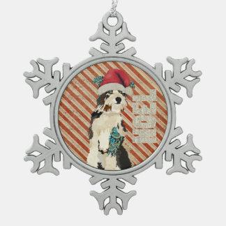 Shabby Dog Noel Ornament