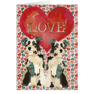 Shabby Dogs Love Valentine Card