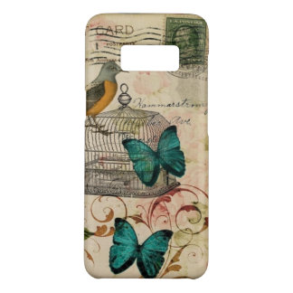 shabby elegance floral bird french country Case-Mate samsung galaxy s8 case