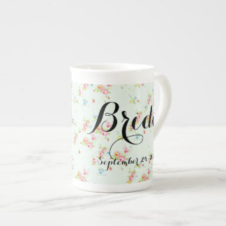Shabby floral chic bride wedding date roses vintag tea cup