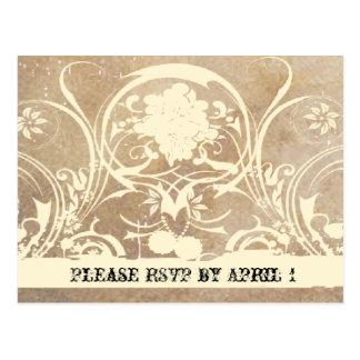 Shabby Lace Parchment RSVP Postcards