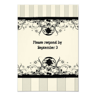 Shabby Old West rsvp with envelopes Card