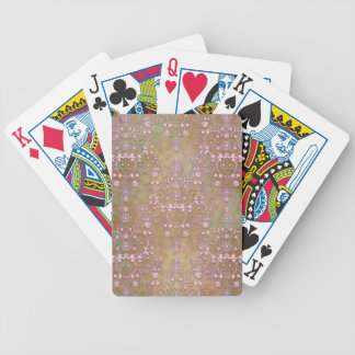 Shabby Pink and Brown Vintage Damask Bicycle Poker Cards