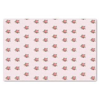 Shabby Pink Roses Tissue Paper