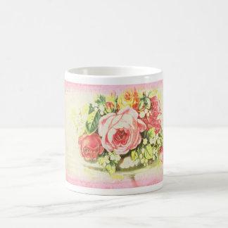 Shabby Rose Collage Art Mugs