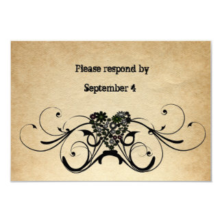Shabby Rustic RSVP with envelopes. Card