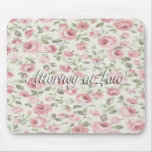 Shabby Sweet Petite Roses Attorney at Law Mouse Mats