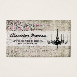 Shabby Victorian Flourish - Chandelier Nouveau Business Card