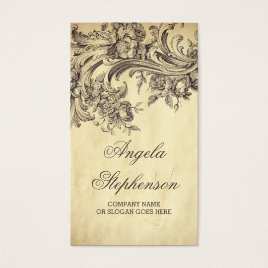 Shabby Vintage Flourishes Chic and Elegant Business Card