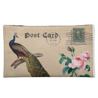Shabby Vintage postcard Bagettes Cosmetic Bag