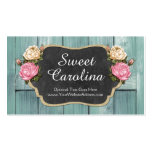 Shabby Vintage Roses Rustic Country Chalkboard Pack Of Standard Business Cards