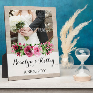 Shabby Vintage Roses Rustic Wood Keepsake Custom Display Plaque