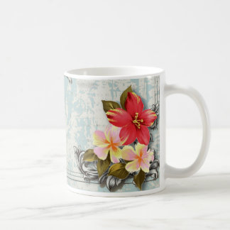 ShabbyChic Hawaii Floral Beach Wedding Favor Coffee Mug