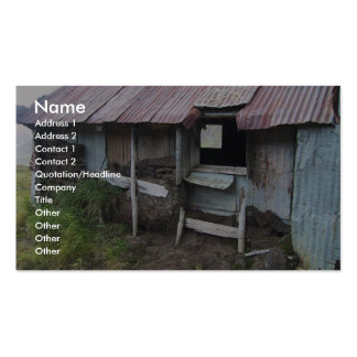 Shack In Alsaka With Sod Insulation Business Card Templates