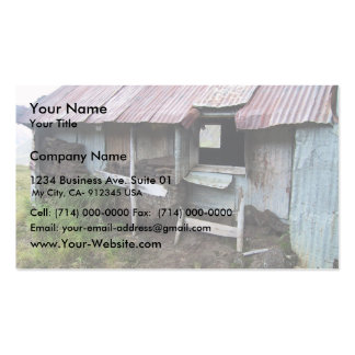 Shack In Alsaka With Sod Insulation Business Card