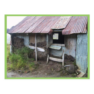 Shack In Alsaka With Sod Insulation Post Cards