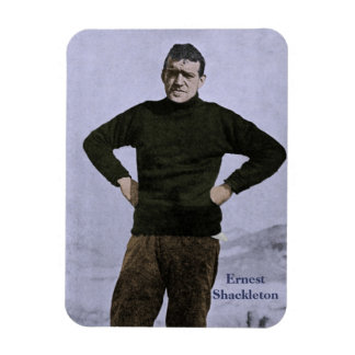 Shackleton in Antarctic colorized picture Magnet