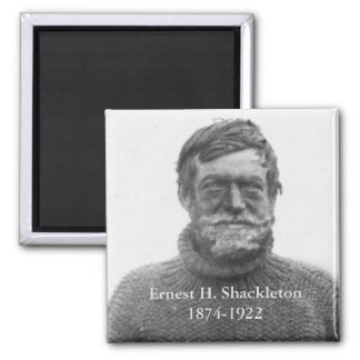 Shackleton in Antarctic Nimrod 1909 picture Magnet