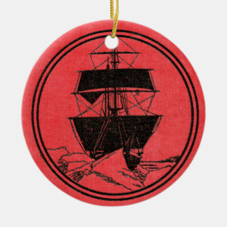 Shackleton's Nimrod Book Cover Christmas Ceramic Ornament
