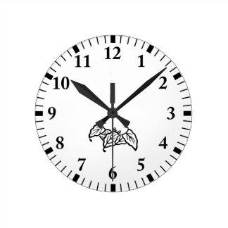 Shade 蝙 蝠 Kashiwa Round Clock