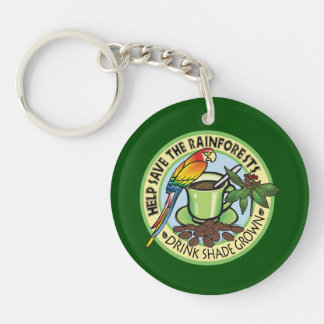 Shade Grown Coffee Key Ring