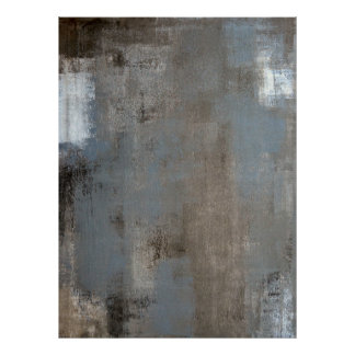 'Shade' Neutral Abstract Art Poster