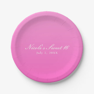 Shade of Pink Simple Minimalism Modern Party Paper Plate