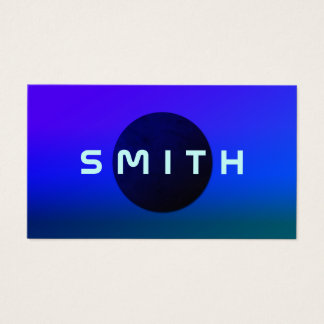 Shade space planet cover business card