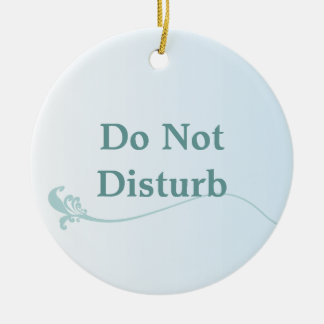 Shaded Blue Do Not Disturb Door Hanger Round Ceramic Decoration