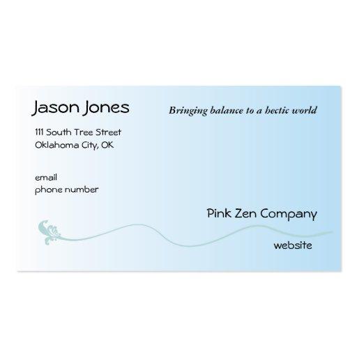Shaded Blue with Fleur de lis line Business Card Template