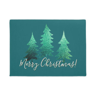 Shaded Spruce Merry Christmas Doormat