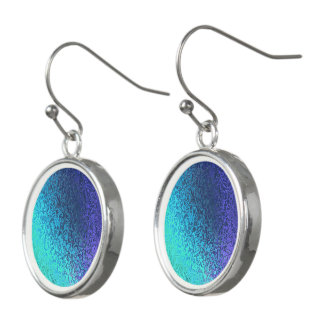 Shades in Blue Shiny Abstract Drop Earrings