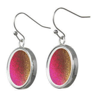 Shades in Pink & Bronze Abstract Drop Earrings