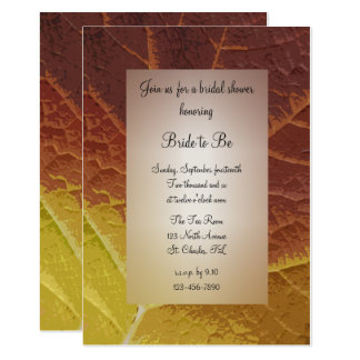 Shades of Autumn Bridal Shower Card