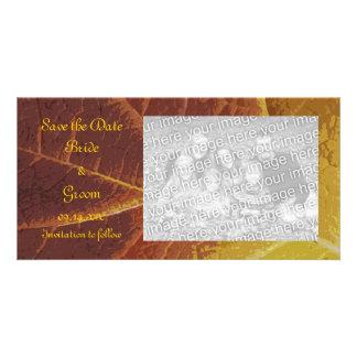 Shades of Autumn Wedding Save the Date Custom Photo Card