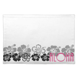 Shades of Black and Gray aloha design Placemat