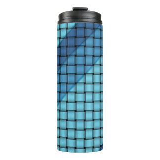 Shades of Blue Basket Weave Pattern Tumblers