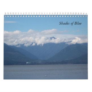 Shades of Blue Calendar